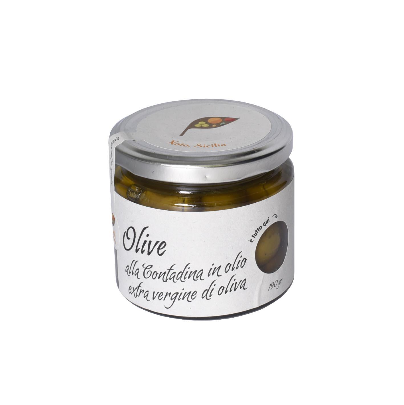 Olive Nocellara dell'Etna alla contadina 190 gr