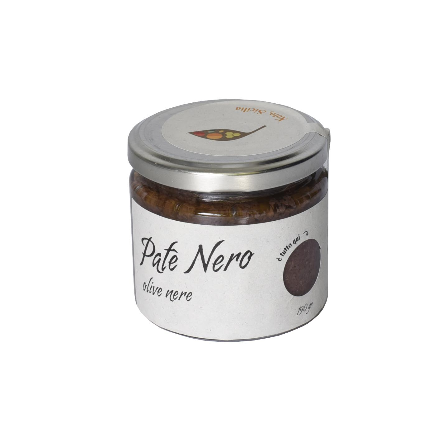 Patè nero di olive nere 190 gr