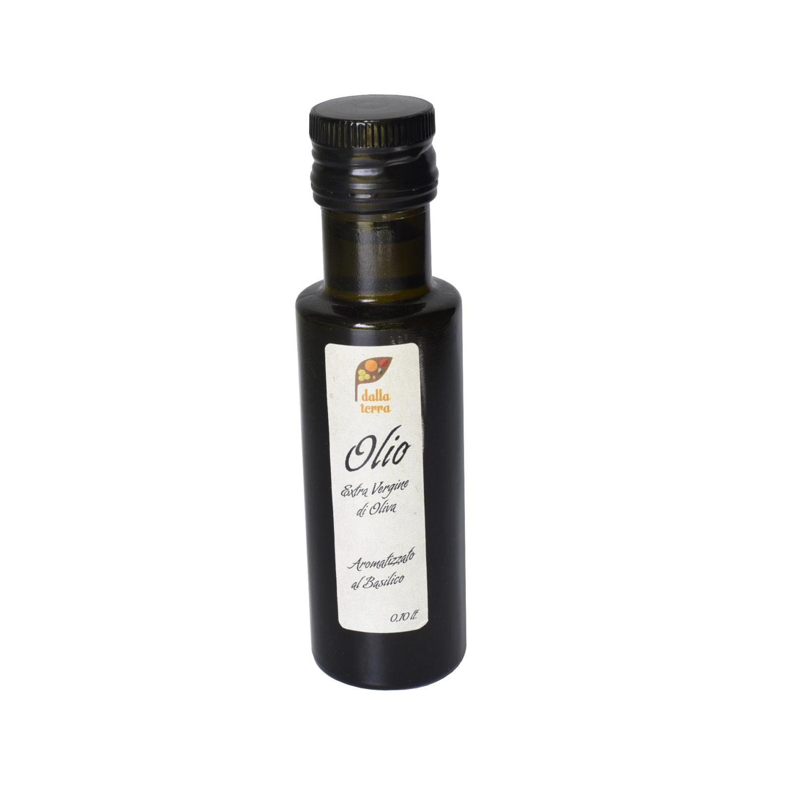 Olio d'oliva aromatizzato al basilico
