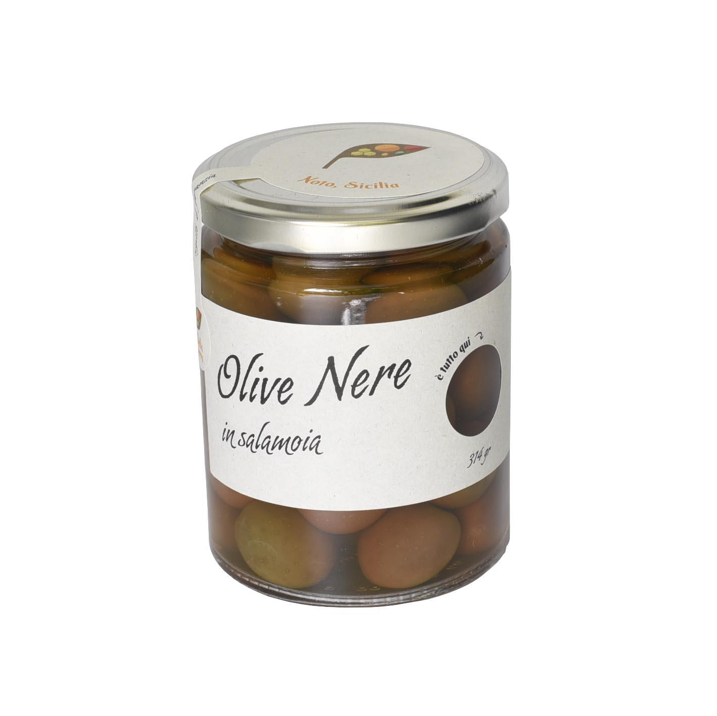 Olive Nere naturali in salamoia 314 gr