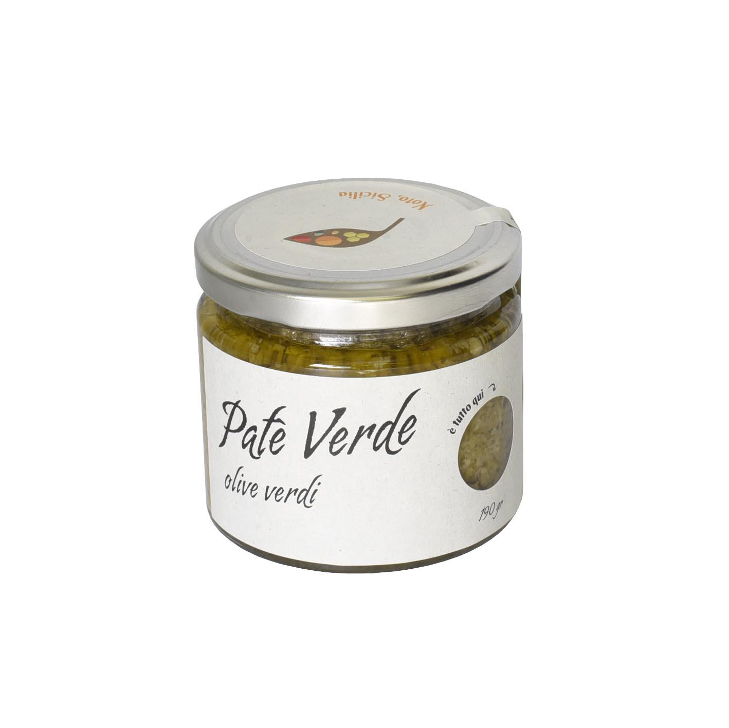 Patè verde di olive verdi 190 GR