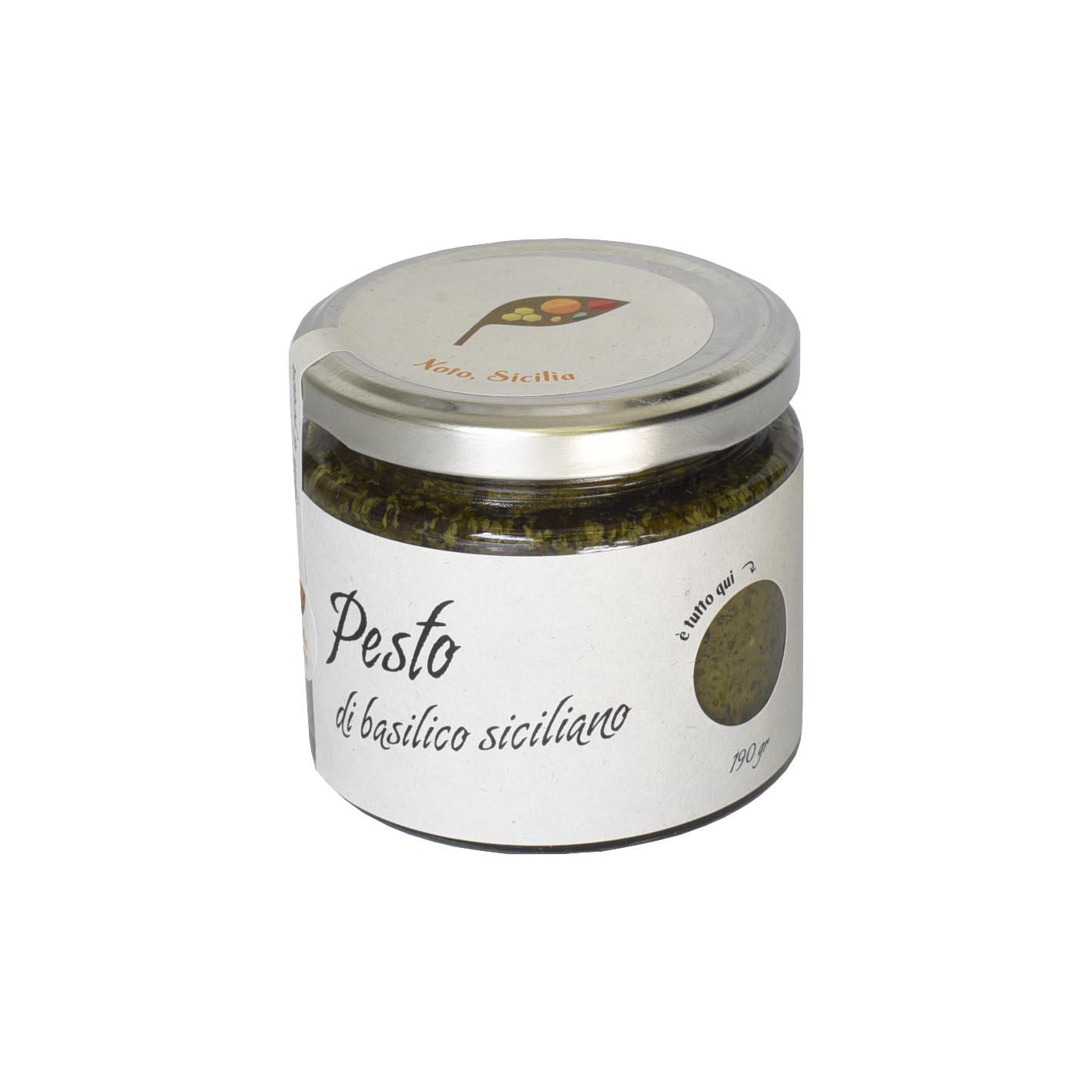 Pesto di basilico siciliano da 190 Gr